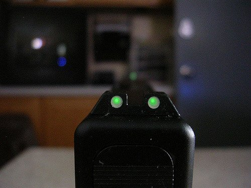 Glock night sight