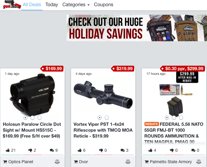 gun deals website